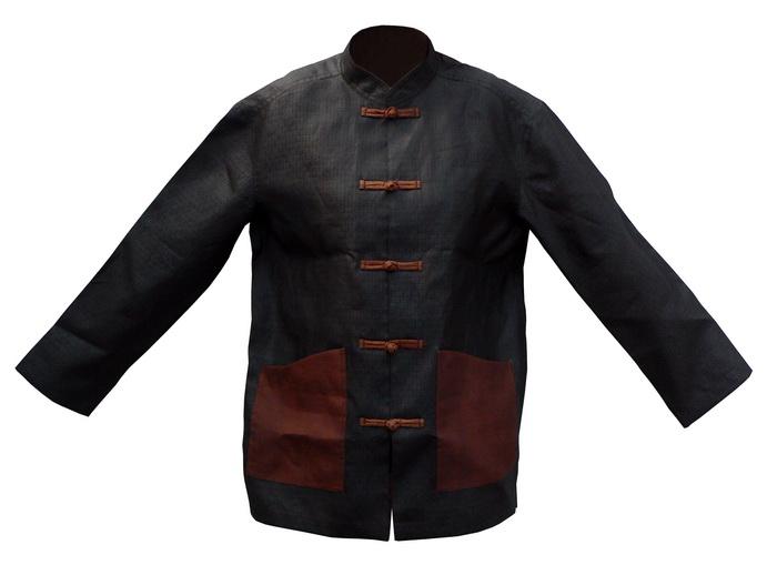 用香云纱做成的中式服装